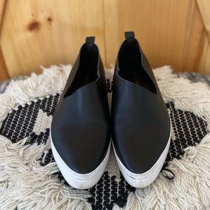 ALL BLACK Slip-On Sneakers